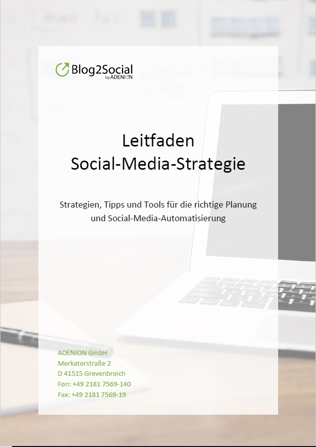 Cover zu Social Media Strategie Leitfaden