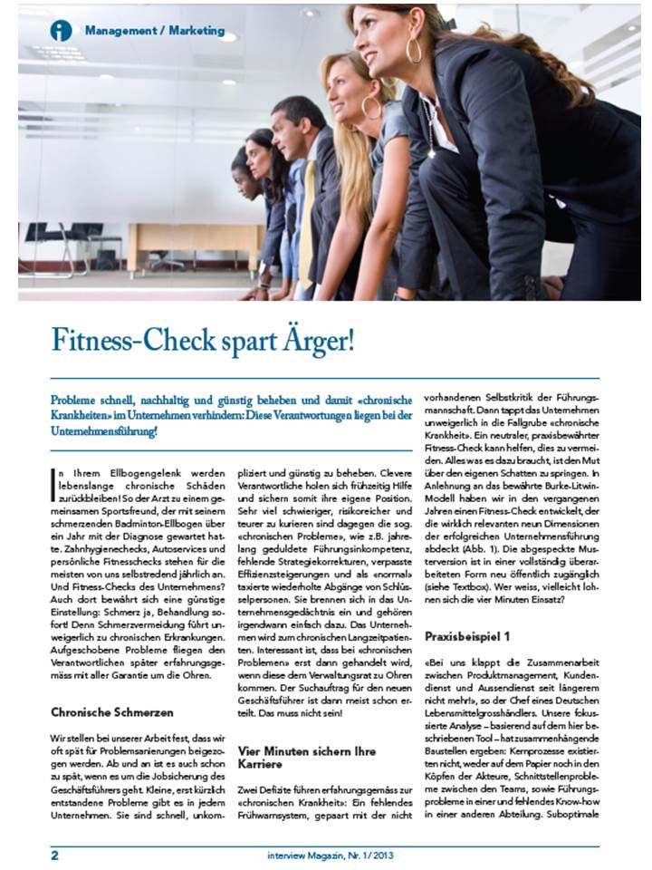 Cover zu Fitness-Check spart Aerger