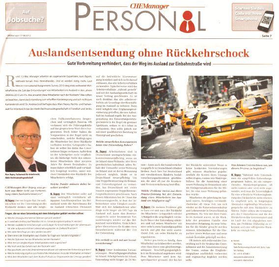 """Cover zu Interview: """"Auslandsentsendung ohne Rückkehrschock"""""""