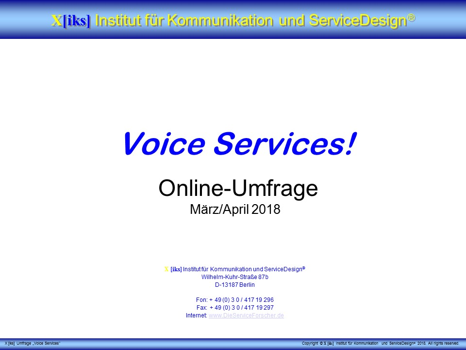Cover zu Voice Services