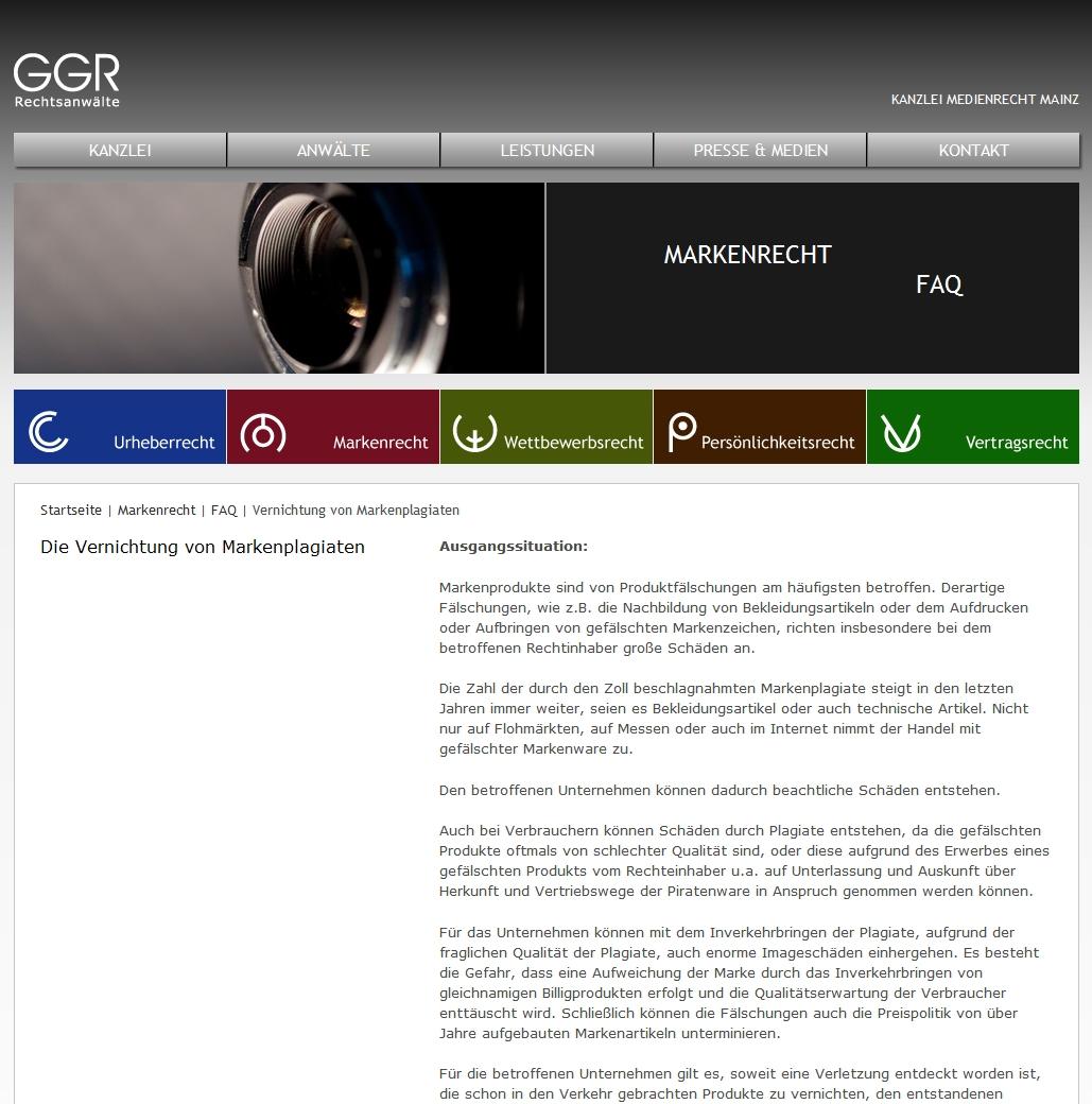 Cover zu Schutz vor Markenpiraterie und Produktpiraterie auf Messen