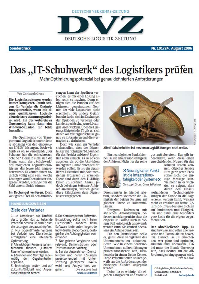 """Cover zu Das """"IT-Schuhwerk"""" des Logistikers prüfen"""