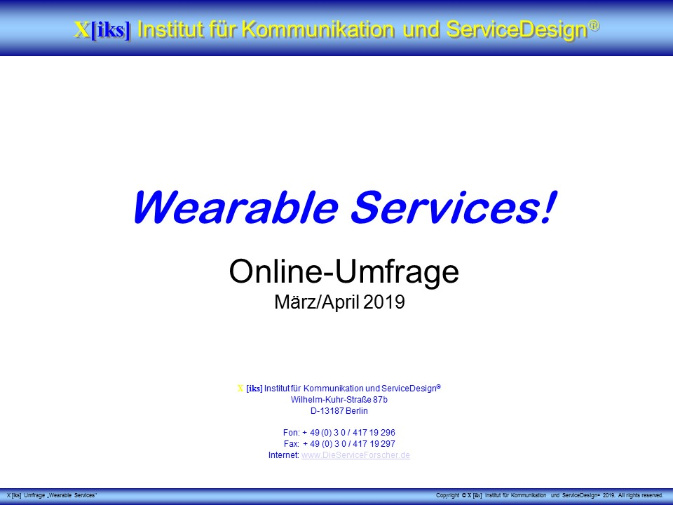 Cover zu Werable Services