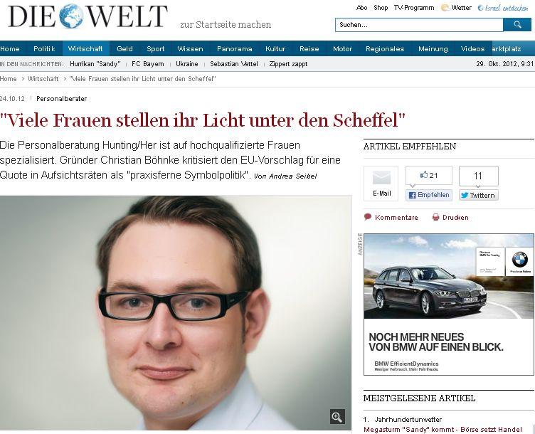 """Cover zu """"Viele Frauen stellen ihr Licht unter den Scheffel"""""""