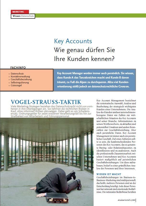 Cover zu Wissen: Datenschutz Key Accounts Wie genau dürfen Sie Ihre Kunden kennen?