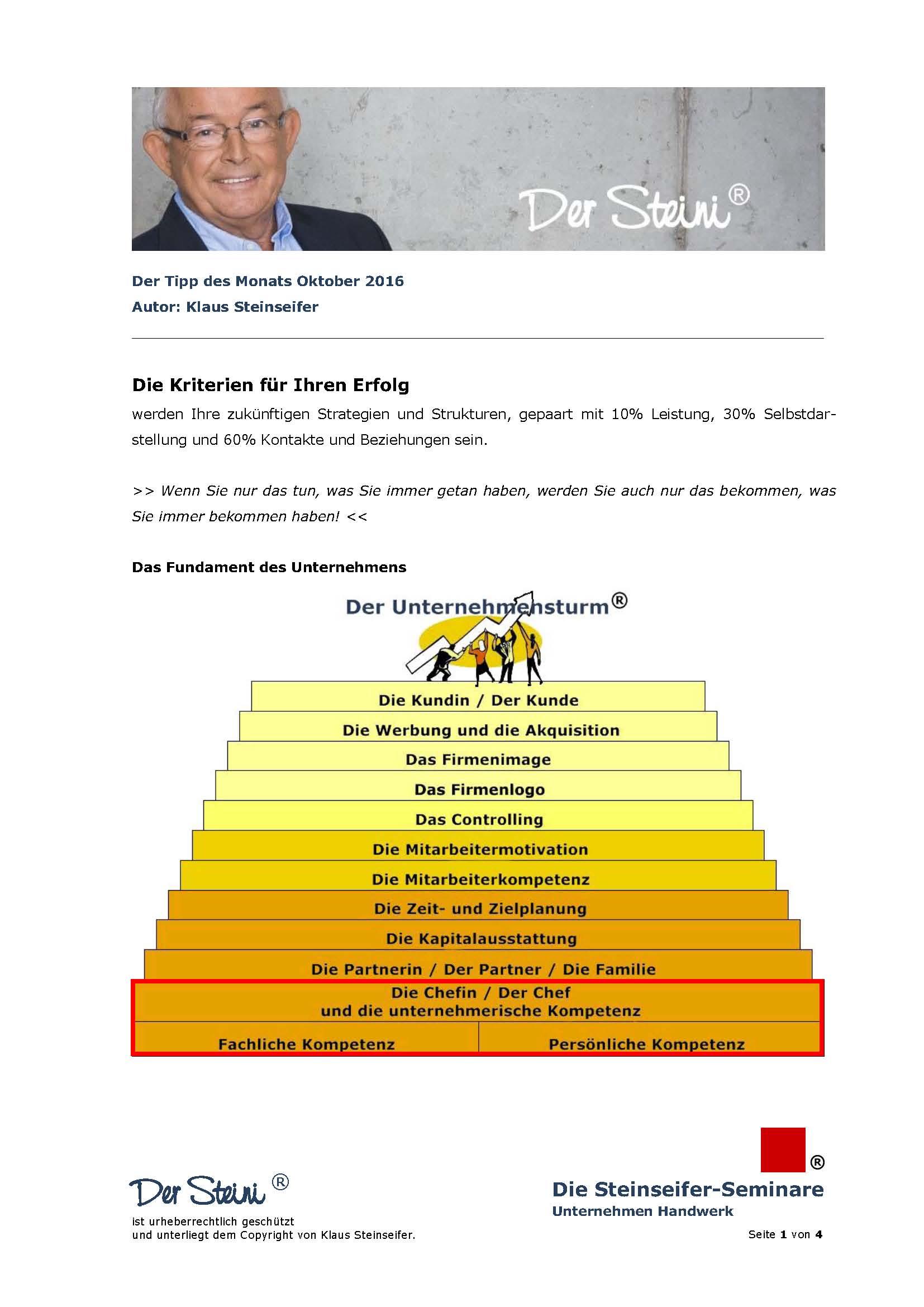 Cover zu Erfolgskriterium fachliche Kompetenz